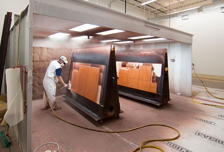 High Pressure Spray Booth : Paint booth