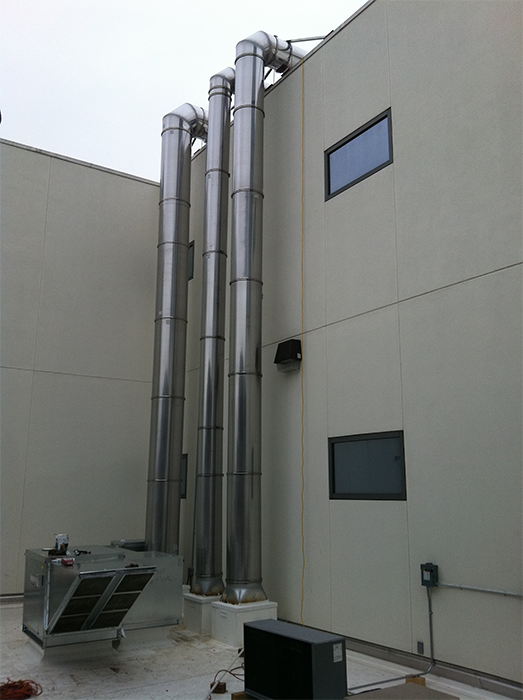 Double Wall Stainless Steel Grease Duct Double Wall Grease