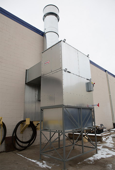 Vertical Industrial Direct Fired Heater Cfa